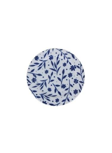 Porland Porland Blue Desen2 Düz Tabak 20cm Renkli